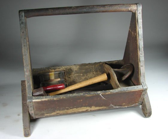 520: Old Farriers Tool Box with contents.
