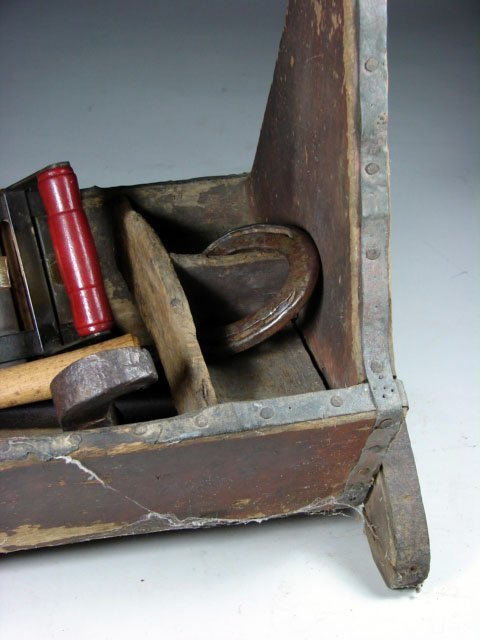 520: Old Farriers Tool Box with contents. - 2