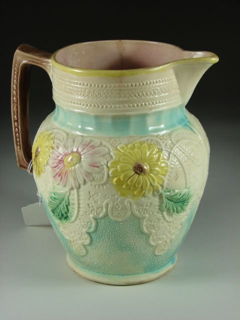 767: Early Majolica Pitcher