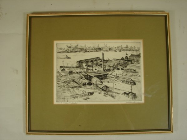 772: Mortimer Borne, Dry Point Etching.