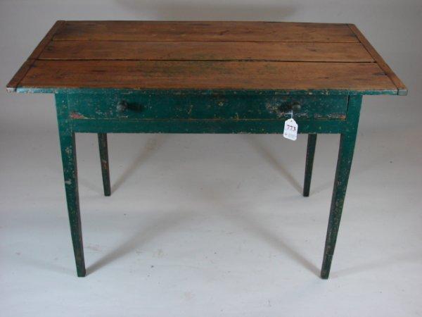 773: 19th Century One Drawer Farm Table
