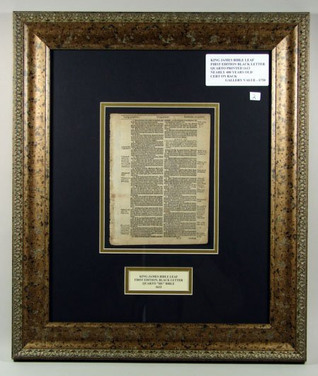 774: King James Bible Leaf