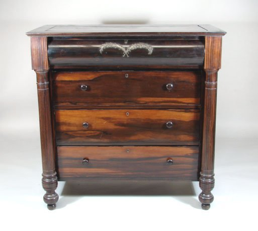 779: 19th Century Exotic Wood Chest