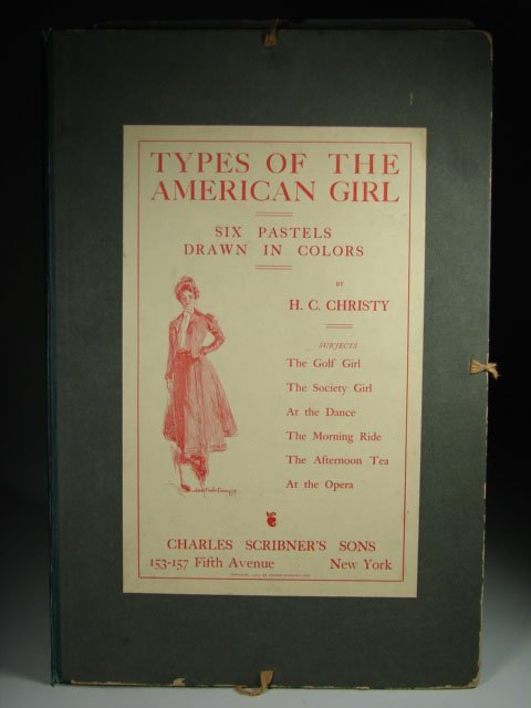 782: Rare Howard Chandler Christly 1900 Gibson Girl Fol
