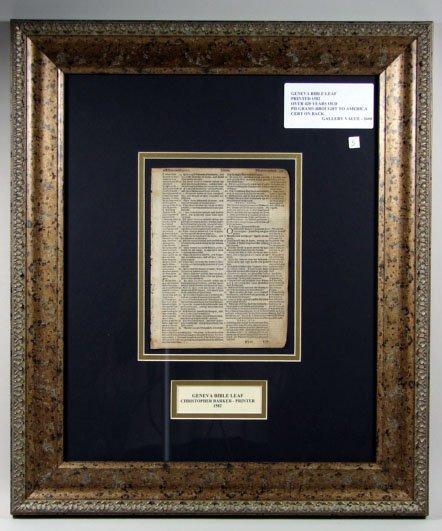 783: Geneva Bible Leaf
