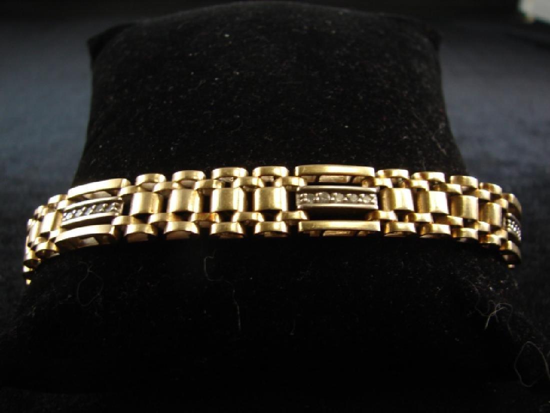 14K Yellow 7 White Gold Diamond Watch