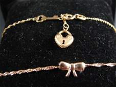 Two 14K Yellow Gold Necklaces
