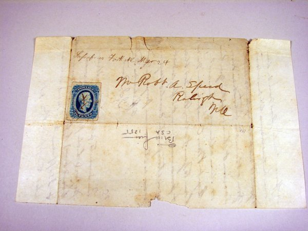 1: Letter from Sassafras Fork, NC