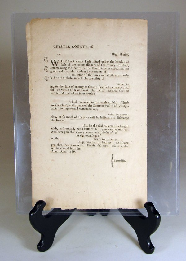 12: Two Unused Chester County, PA Summons