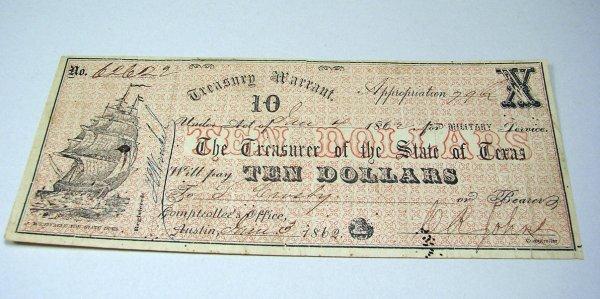 13: State of Texas Treasury Warrant