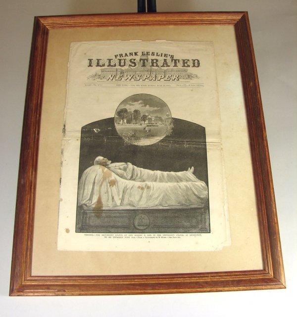 17: Framed Frank Leslies Newspaper