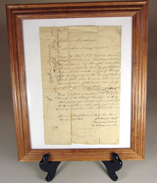 19: Important Confederate Soldiers Discharge