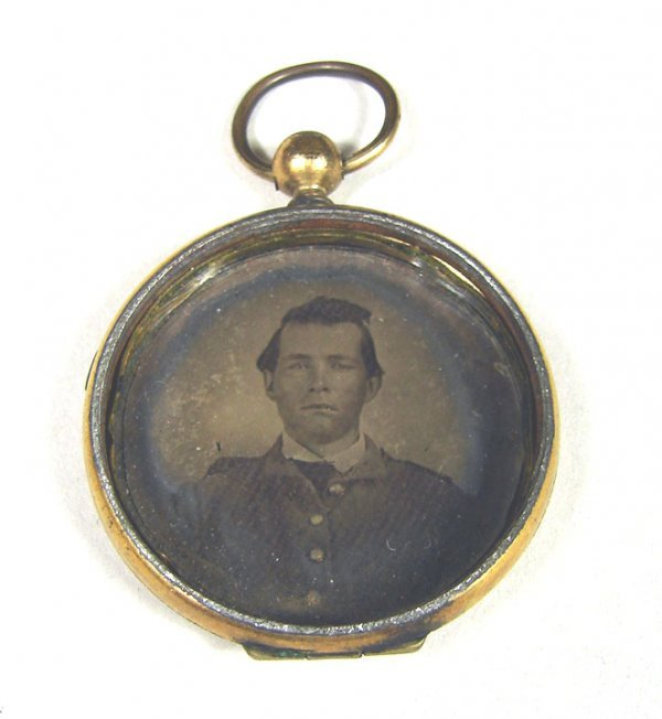 21: Small Round Locket with Ambrotype