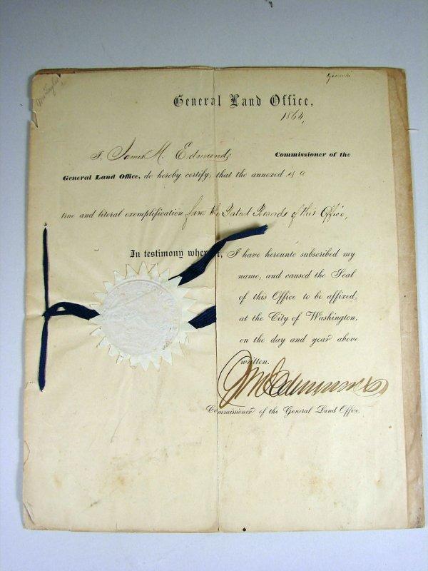 26: 1859 Land Warrant