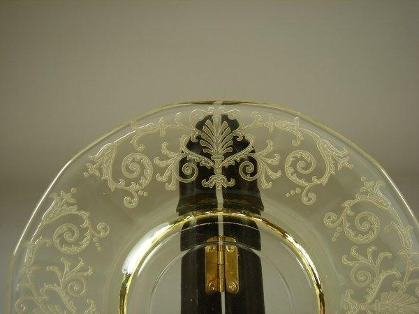 16B: 12 Yellow Fostoria Versailles Cups & Saucers - 3