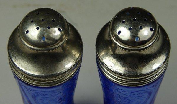 19B: Pair Cobalt Royal Lace Shakers - 3