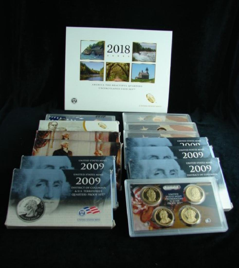 Five 2009 US Proof Sets - Quarters Only