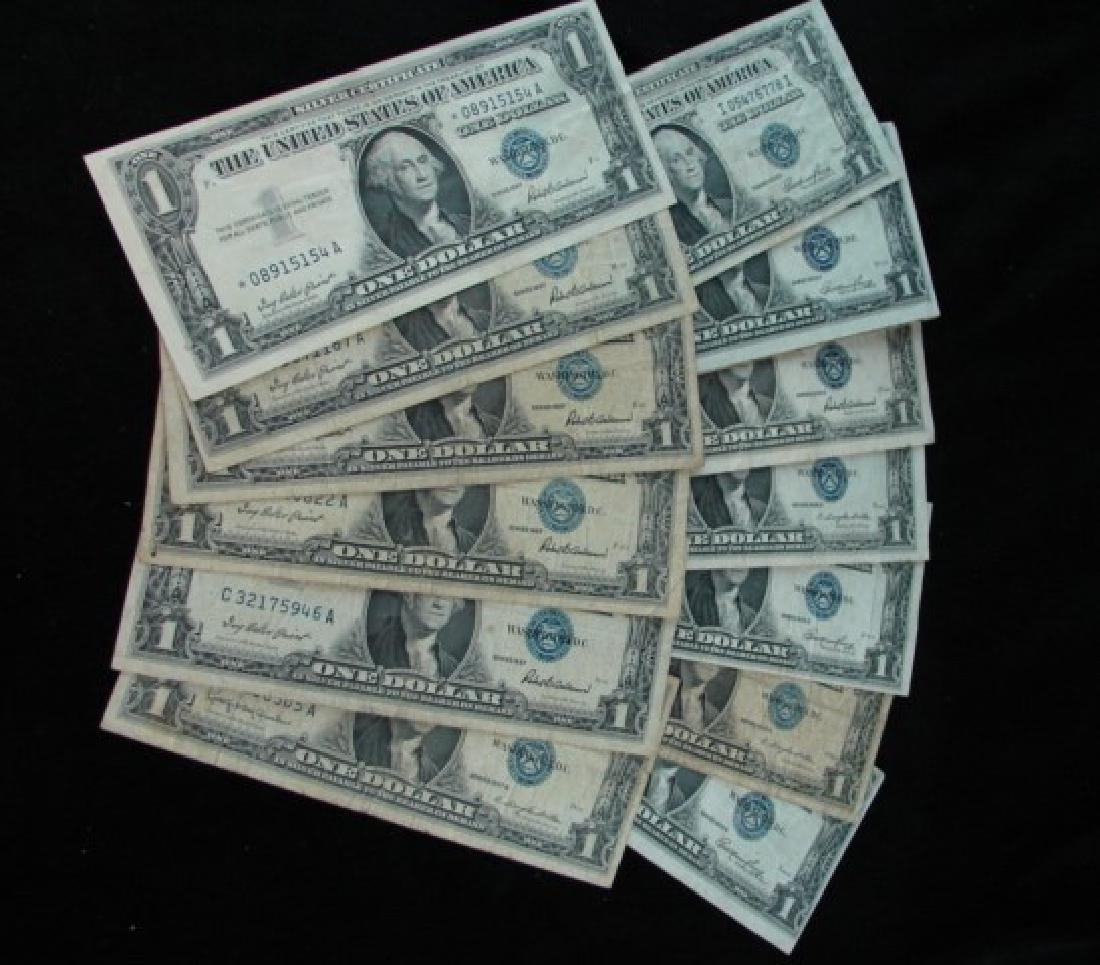 14 One Dollar Silver Certificates