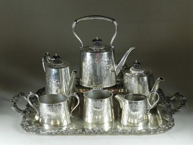 English Silver Plate Tea Service