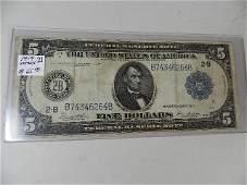 1914 $5 Silver Certificate