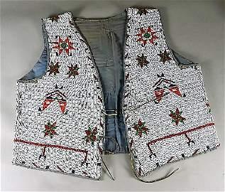 1920s Era Sioux Beaded Hide Vest