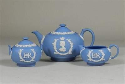 3 pc Wedgwood Coronation Tea Service