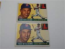 Lot of Two 1955 Topps Baseball Cards