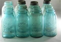 12 Half Gallon Ball Blue Jars