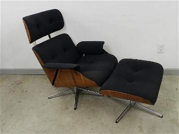 Plycraft Eames Style Chair & Ottoman