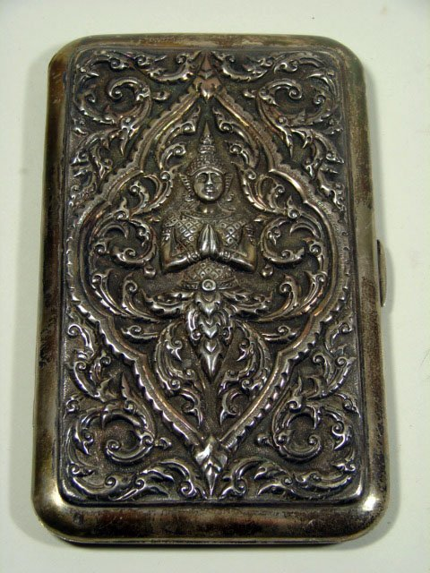 9: Hand Chaised Sterling Silver Cigarette Case