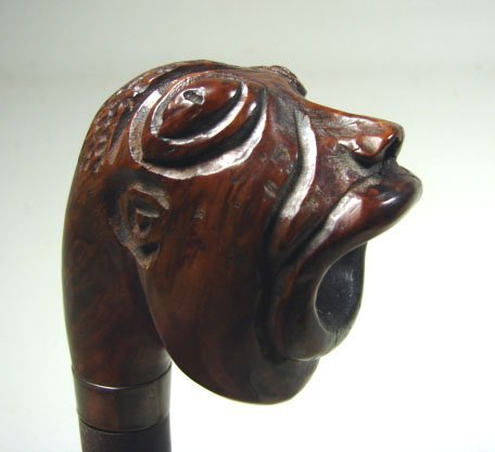 22: Hand Carved Briar Wooden Pipe