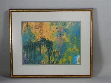 Mixed Media Artwork by Taro Yumamoto (1919-1994)