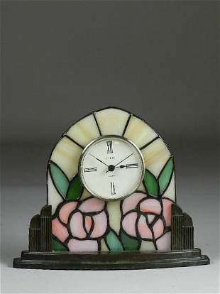 Stained Glass Desk Clock