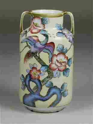 Hand Painted Nippon Vase