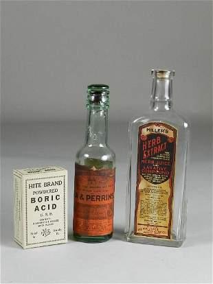 3 Advertising Bottles