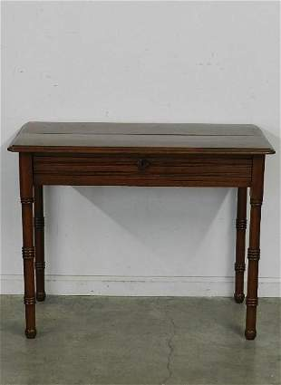 Antique Walnut One Drawer Table