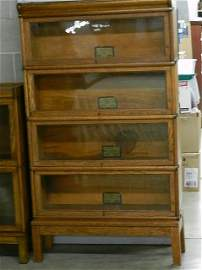 Globe Wernicke 4 Section Barrister Stacking Bookcase
