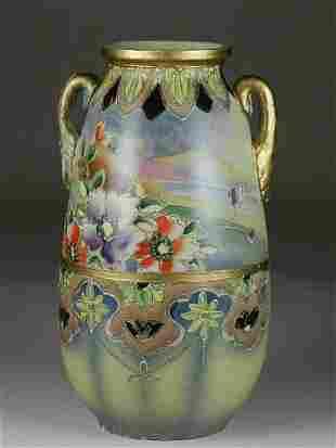 Satsuma Style Vase