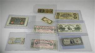 9 Pieces of Miscellaneous Currency