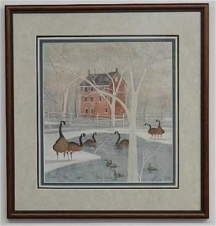 P. Buckley Moss Framed Print, Family of Love