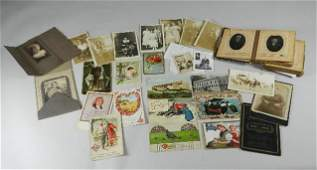 Group of Postcards and Photo Album