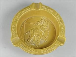 McCoy G.O.P. In Appreciation Souvenir Ash Tray