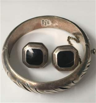 2 Pieces of Mexico Silver Jewelry