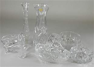 7 Pieces Assorted Cut Crystal