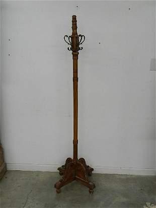 Decorative Oak Coat Rack
