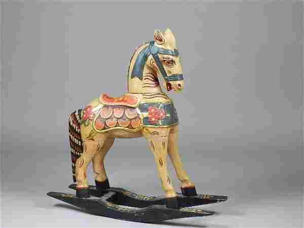 Folk Art Style Rocking Horse