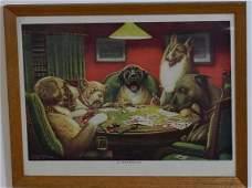 Vintage Dogs Playing Poker Print