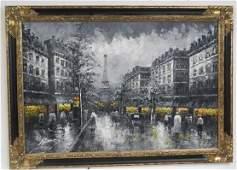 Oil on Canvas of Paris