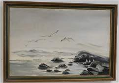 Oil on Canvas of Sea Gulls