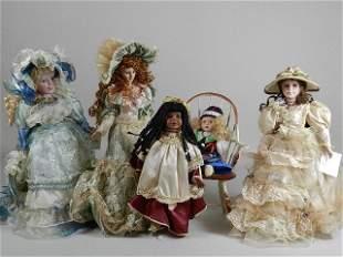 Group of Porcelain Dolls
